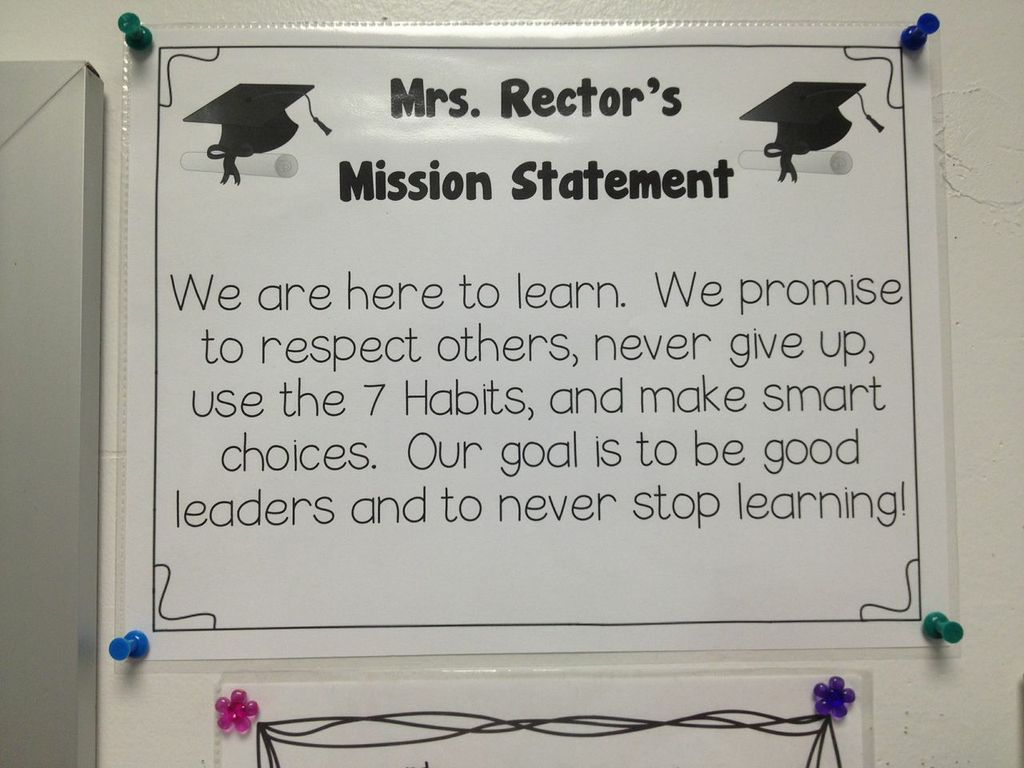 rockfield elementary school below you will examples of each classrooms s mission statement that are posted by their classrooms