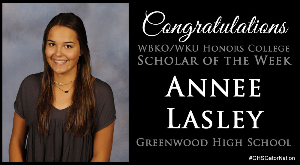 Anne Lasley Scholar of the Week
