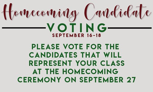 Homecoming Candidate Voting