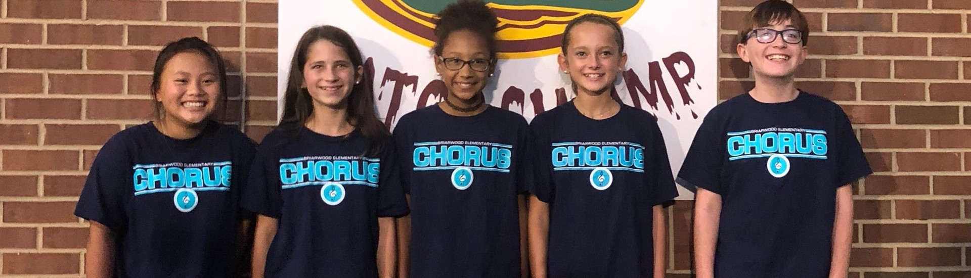 Some of our Briarwood Chorus members sang The National Anthem for DCMS soccer game.