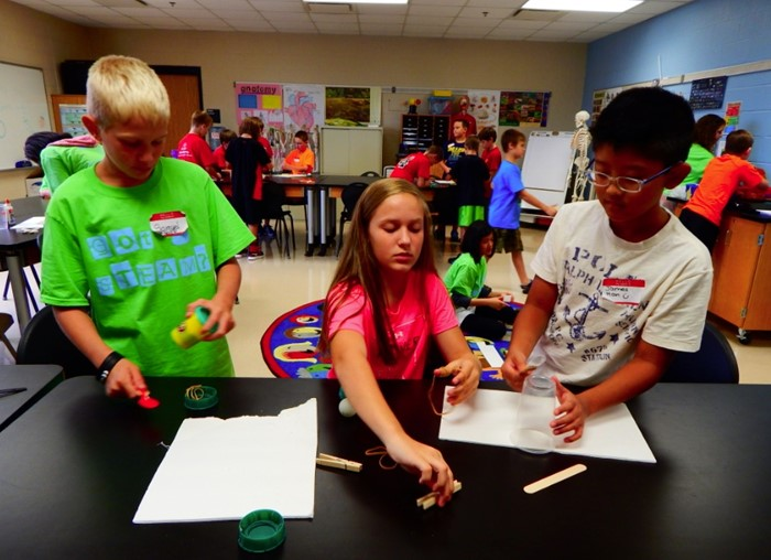 More than 160 students in grades 5-6 from all 14 WCPS elementary schools attend the 212º Academy for advanced instruction in math, science, and technology.