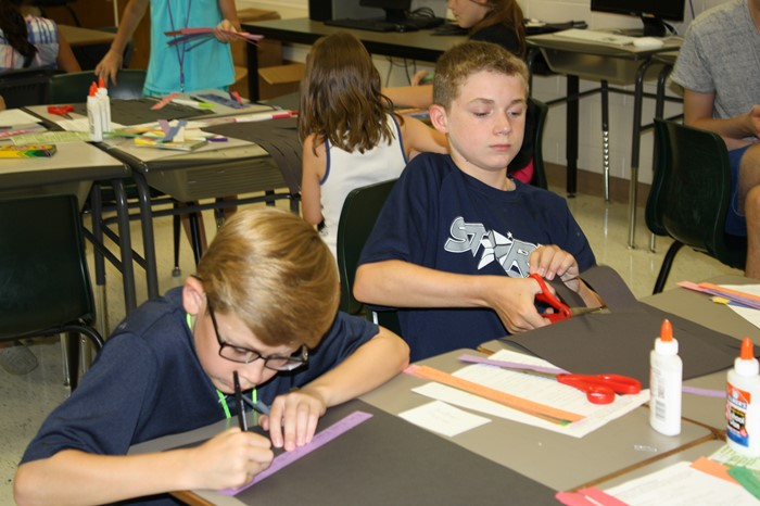 Gifted and Talented students spend the week learning about Science, Technology, Engineering and Math.