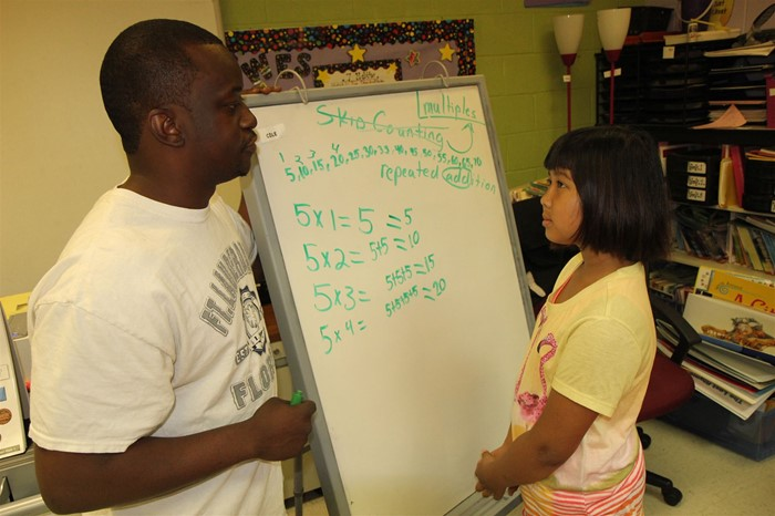 Warren Elementary School students brush up on reading and math skills during the summer.