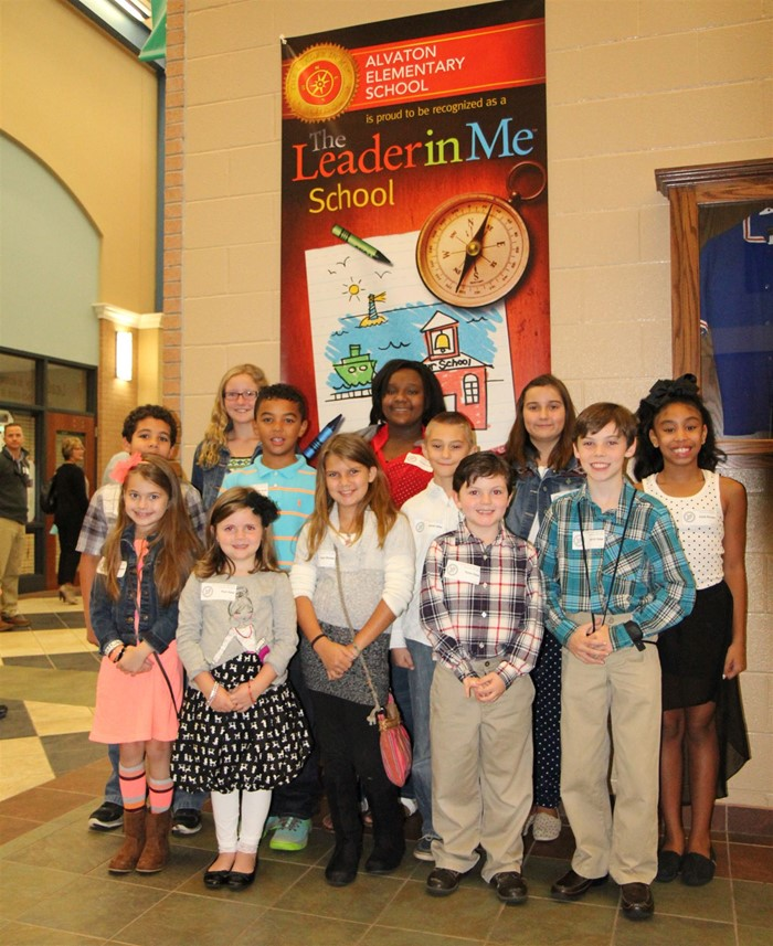 Visitors from several school districts came to learn about The Leader in Me.