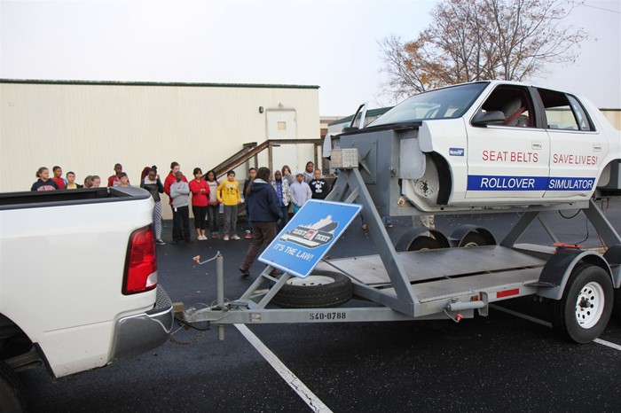 Rollover Simulator teaches seatbelt safety.