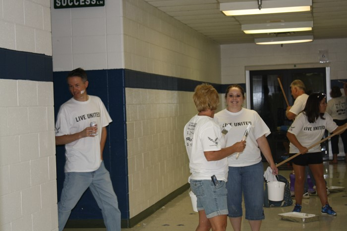 WCPS students and employees volunteer for United Way's Day of Caring!