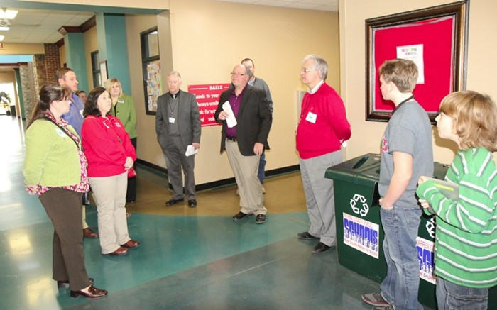 School officials from Union and Henderson counties toured the school.