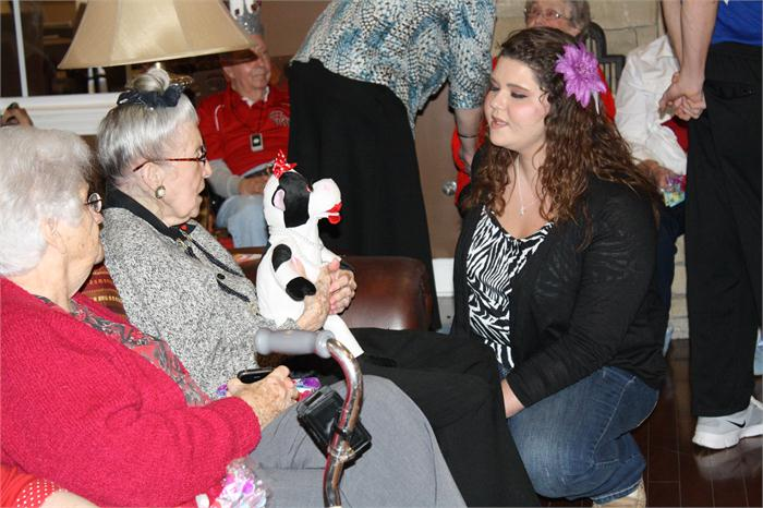 Students made gifts for all 61 residents at Chandler Park Assisted Living.