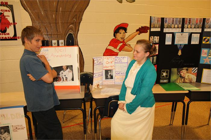 Students learn about history.