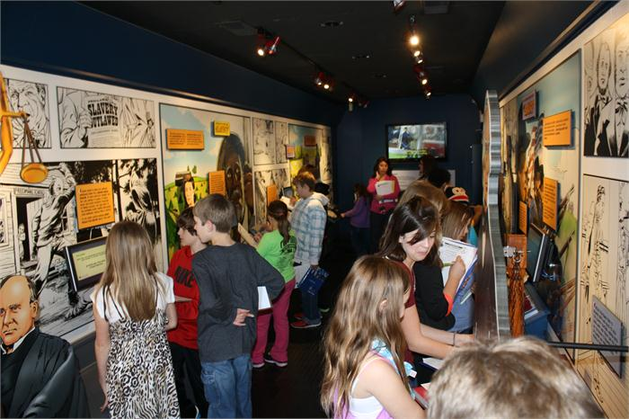 The Kentucky Historical Society brought the traveling exhibit to RPES.