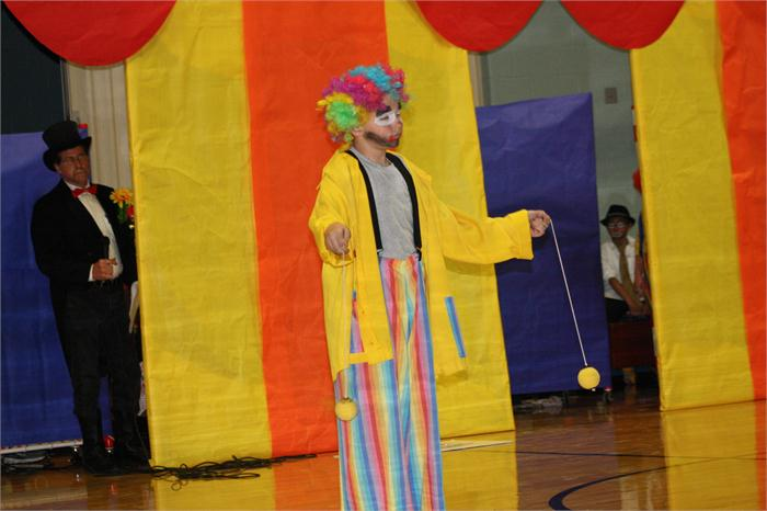 Students learned from Broadway the Clown