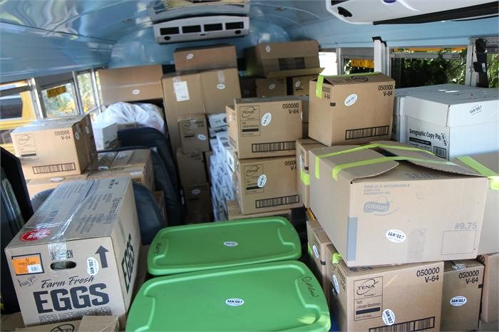Promotion collects more than 8 tons of school supplies.