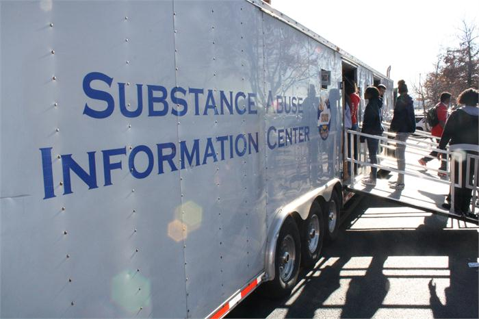 Students and staff learned from the Kentucky State Police mobile information center.
