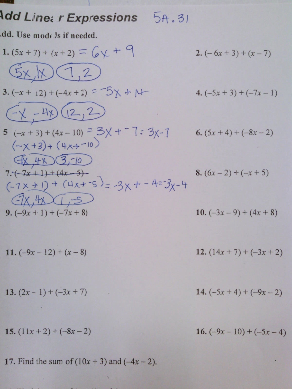 lesson 8 homework practice factoring linear expressions answer key