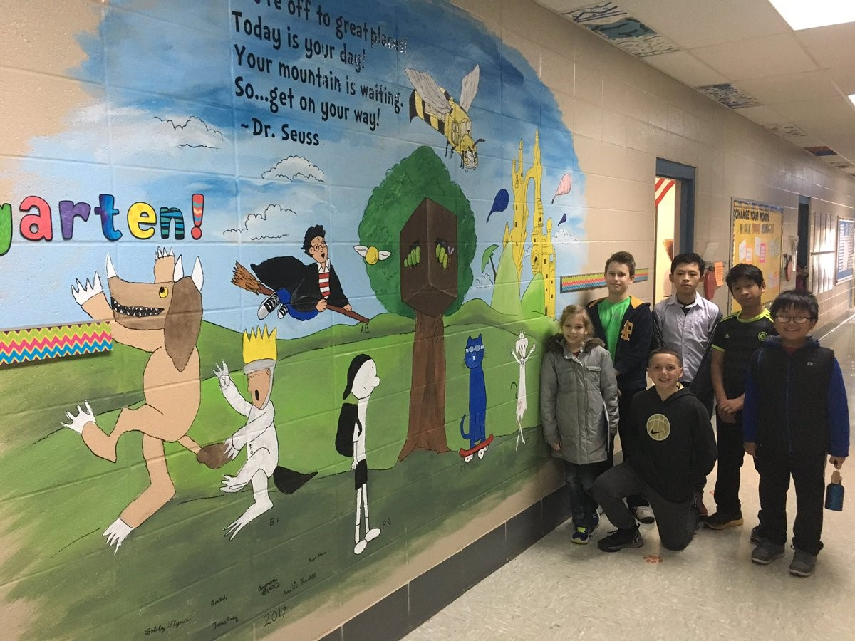 GAT art students completed on our new mural. Great job!!