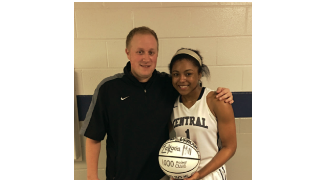 Congratulations to Junior Zakoria Hill on scoring her 1000th point!