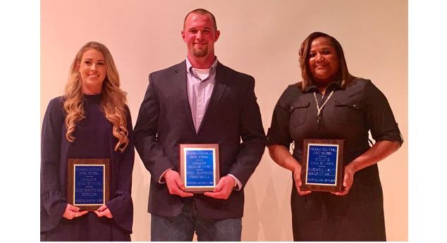 Congratulations to Kelsey Burnette Weed, Wes Jeffries, and George Fant (Kim Fant, mom) on their 2017 induction into the WCHS Athletic Hall of Fame.