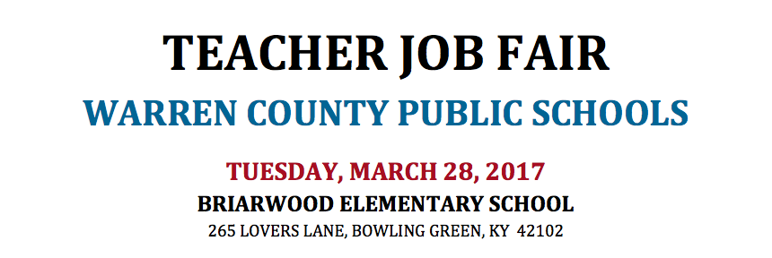 WCPS Teacher Job Fair - Tuesday March 28 (see below for more details)