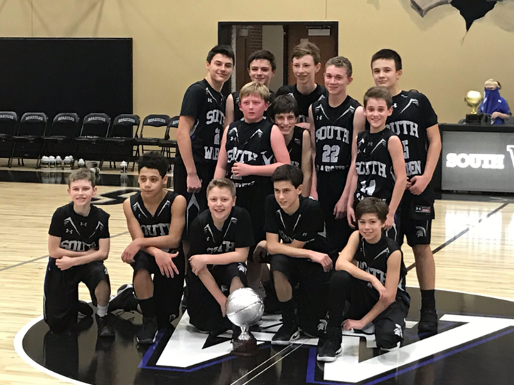 SWMS boys 7th grade basketball team participate in championship game for the first time
