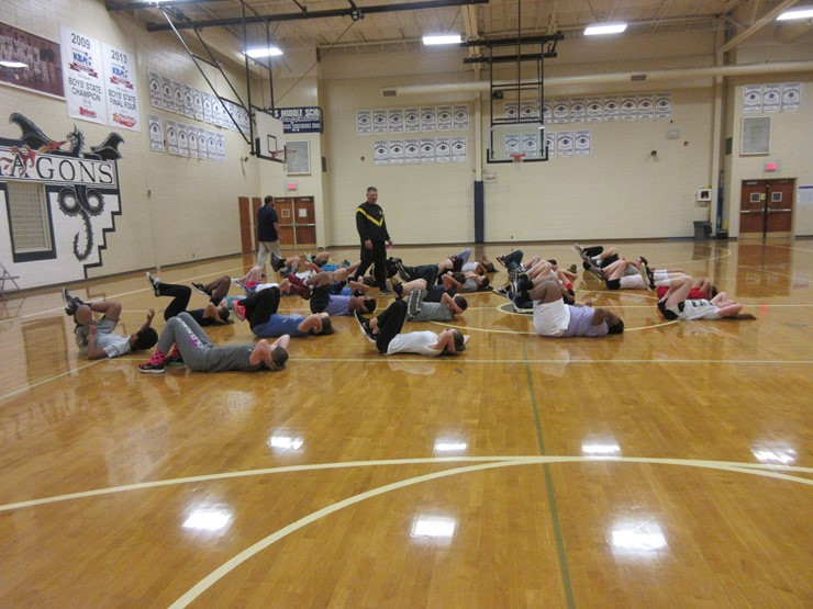 DLC students participate in PT