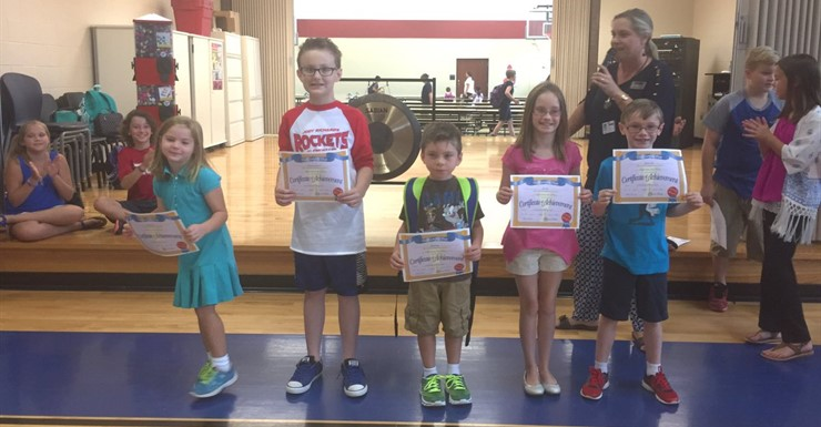 Summer Dreambox Math Challenge award winners!