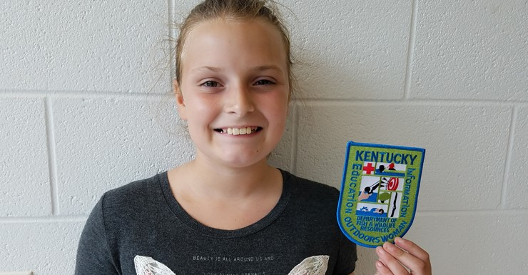 Emily Martin achieved the highest honor available at Camp Currie for young women
