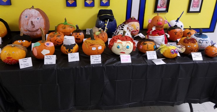 5th Grade Pumpkin Characters will be on display until Oct. 27