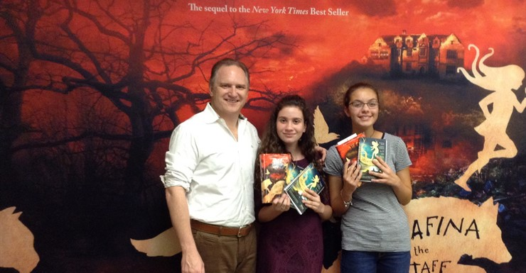 SWMS students meet Robert Beatty, author of Serafina and the Black Cloak