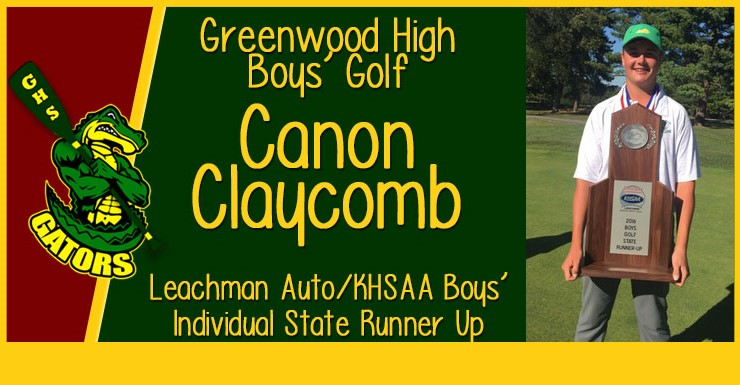 Canon Claycomb Boys Golf Individual State Runner Up