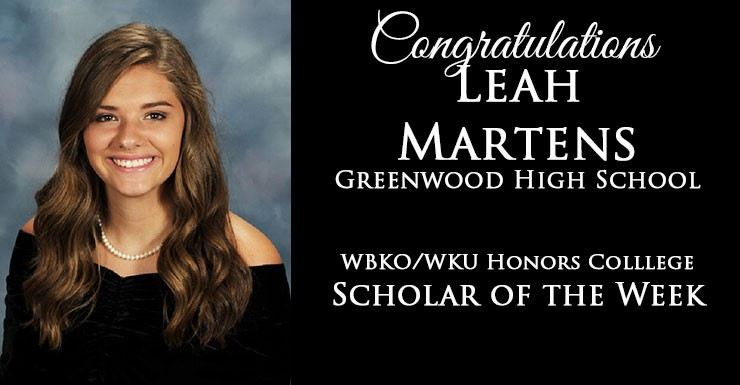 Leah Martens Scholar of the Week