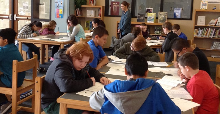 SWMS students participate in AMC8 Math Competition