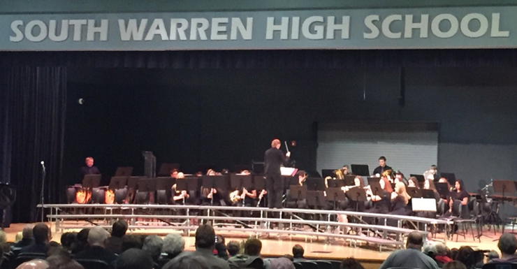 Ms. Spears with the SWMS band performing at our annual Winter concert