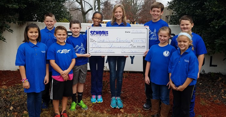 North Warren receives check for becoming a Lighthouse School