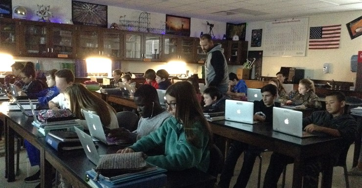 Mr. Esters integrates technology into his Science class lessons
