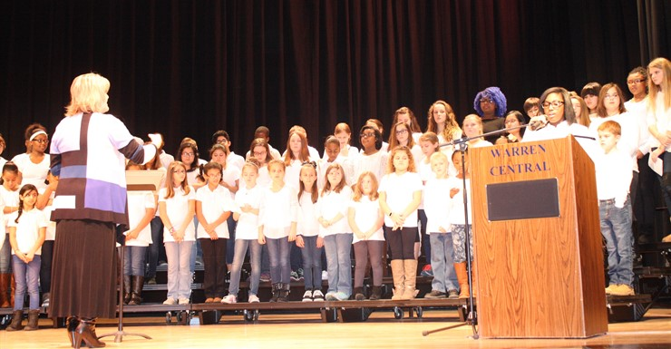 Students perform at MLK Day celebration.