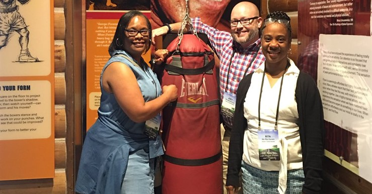 WCHS Administration visiting the Ali Center while attending the 2017 KASA Conference