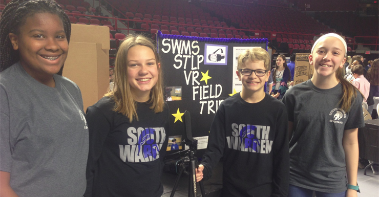 Virtual Reality Field Trip STLP group representing SWMS well at STLP regionals.