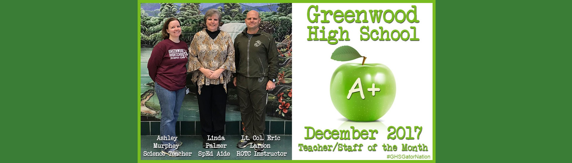 December Teachers of the Month