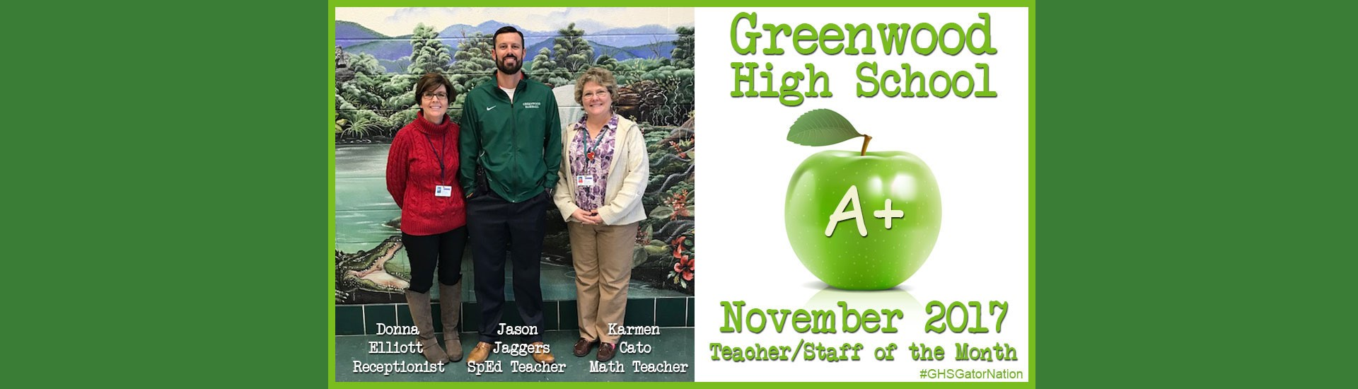 November Teachers of the Month