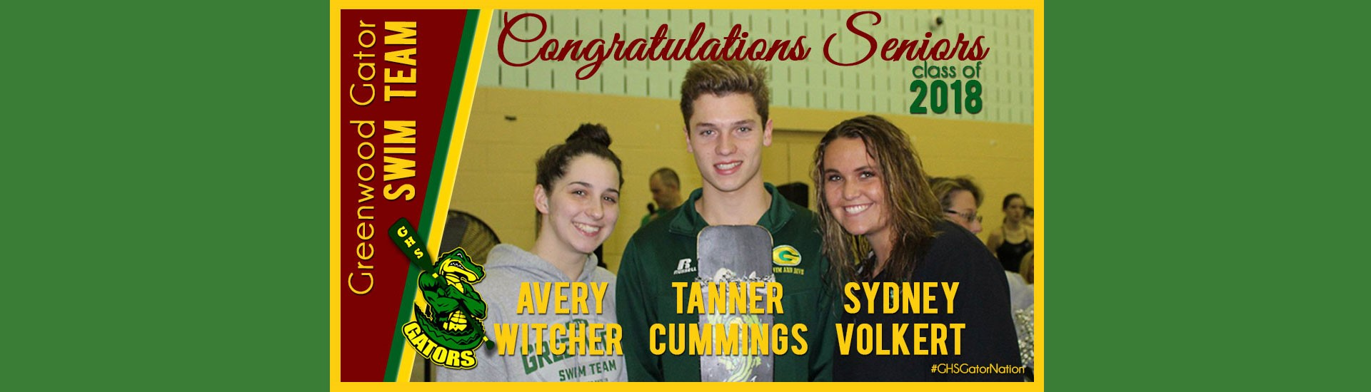 Swim Team Senior Night 2018