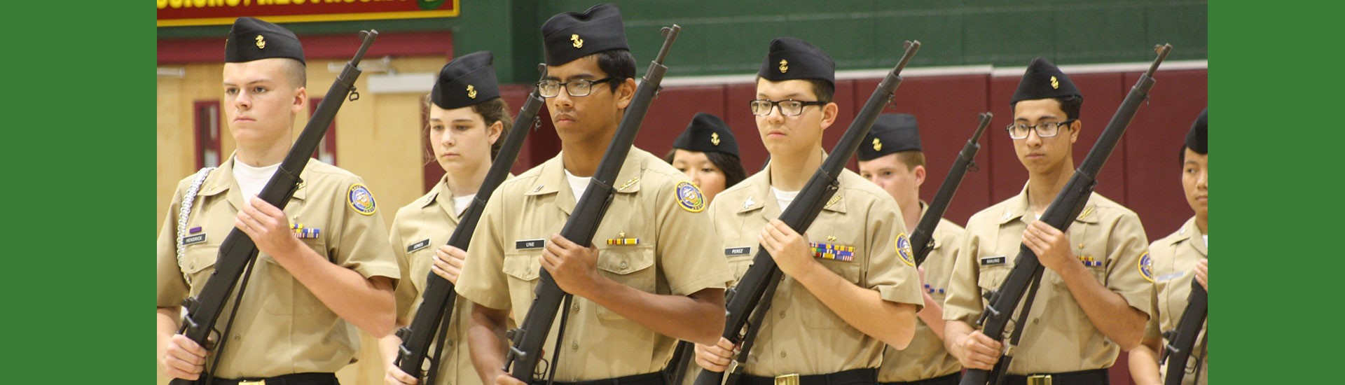 Cadets with rifles
