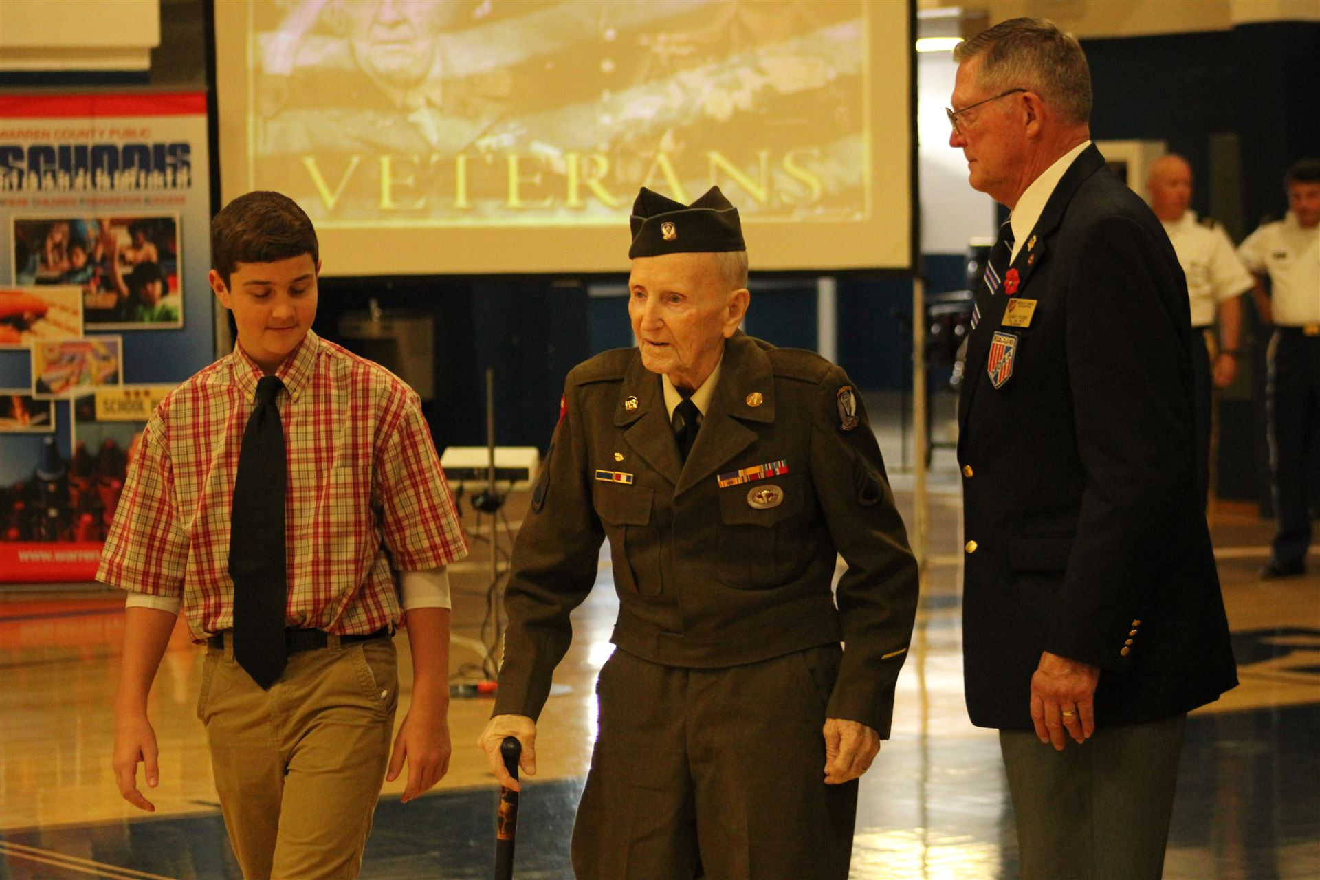 Veterans Day ceremony at WCHS
