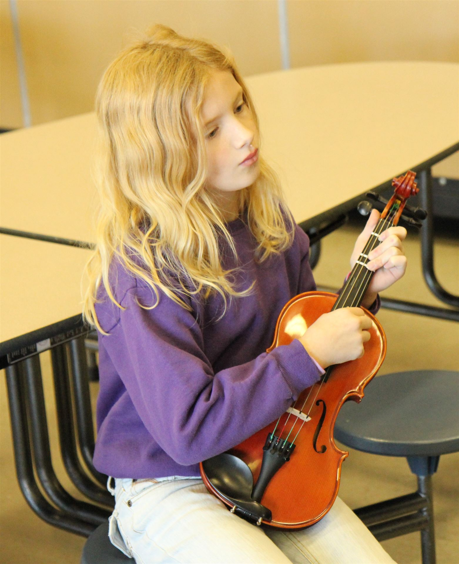 String instruments presented to LRES students