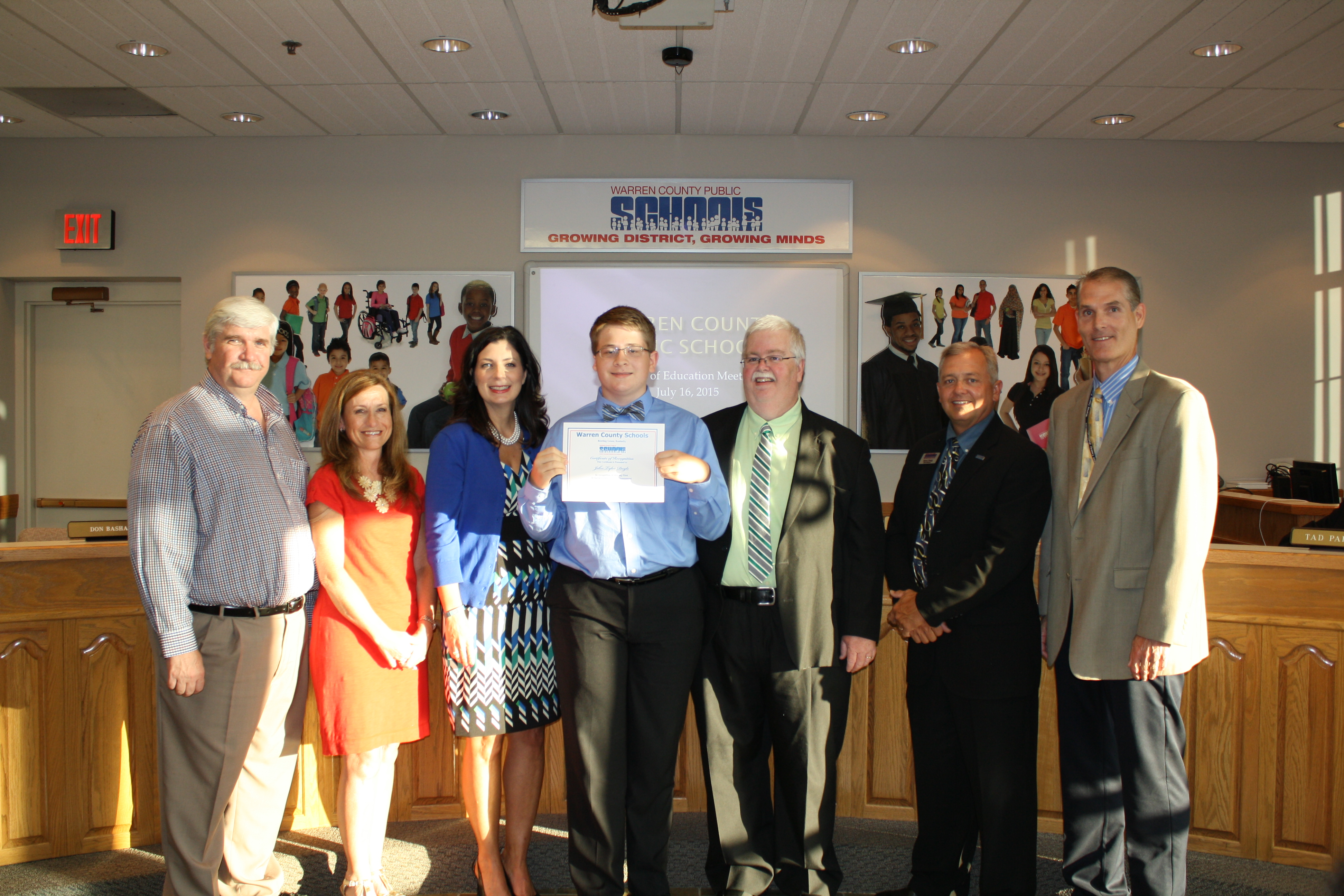 July 2015 Board Meeting Recognitions