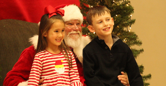 Cookies and crafts with Santa at JRES