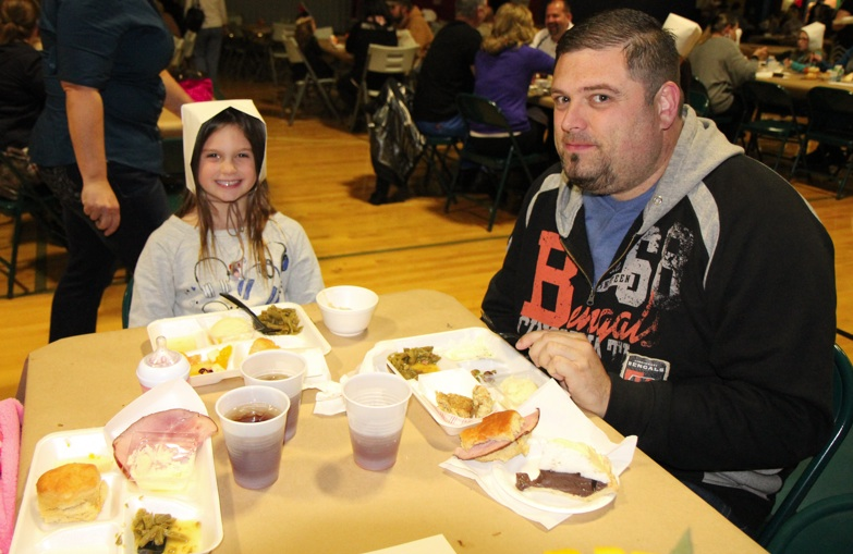 Thanksgiving meal at Plano Elementary