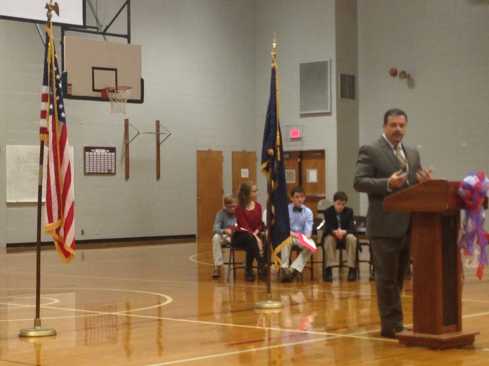 Veterans Day Ceremony at DCMS - 2014