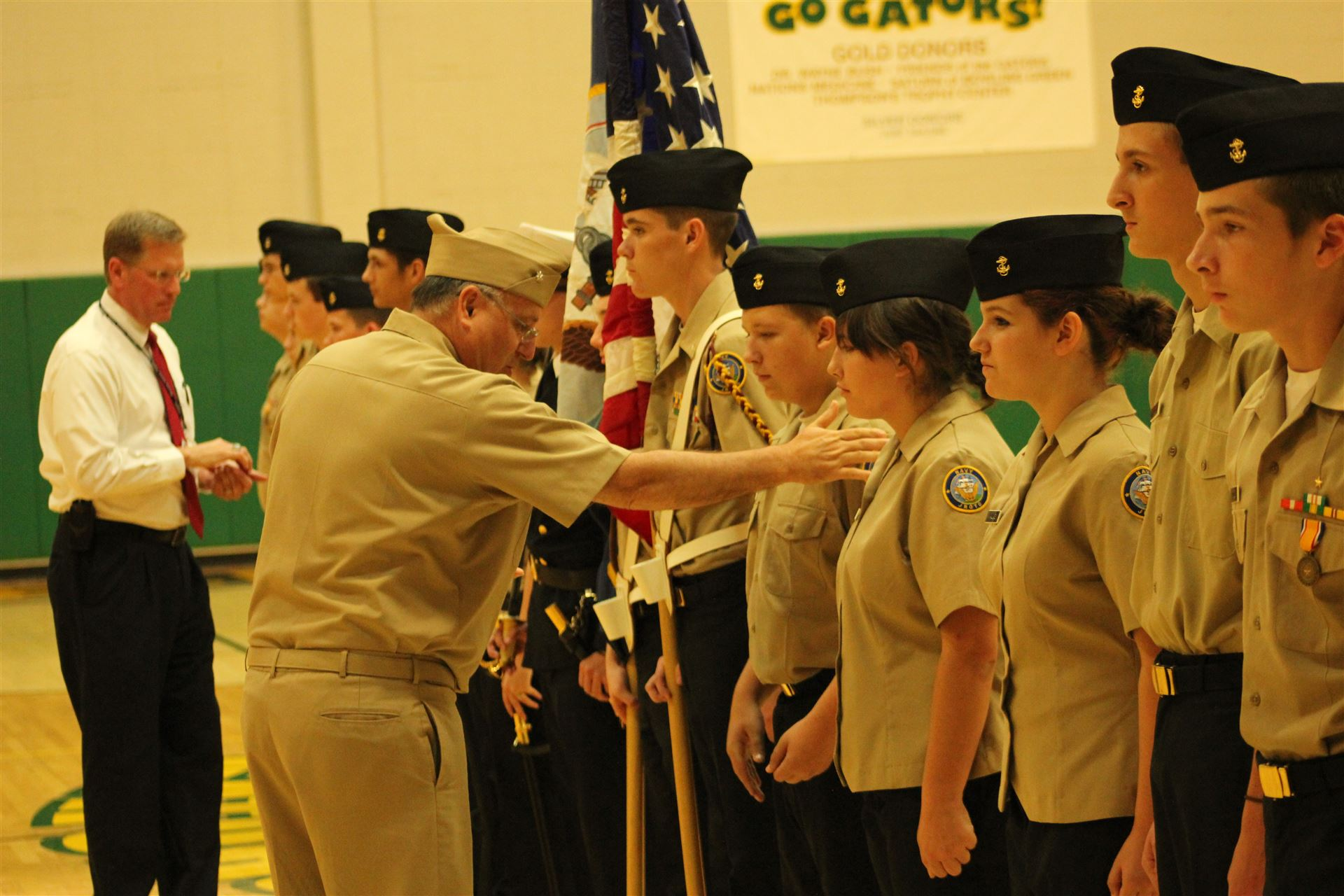 Navy JROTC Inspection at Greenwood HS