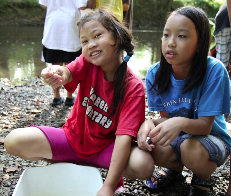 Warren Elementary students do water quality study