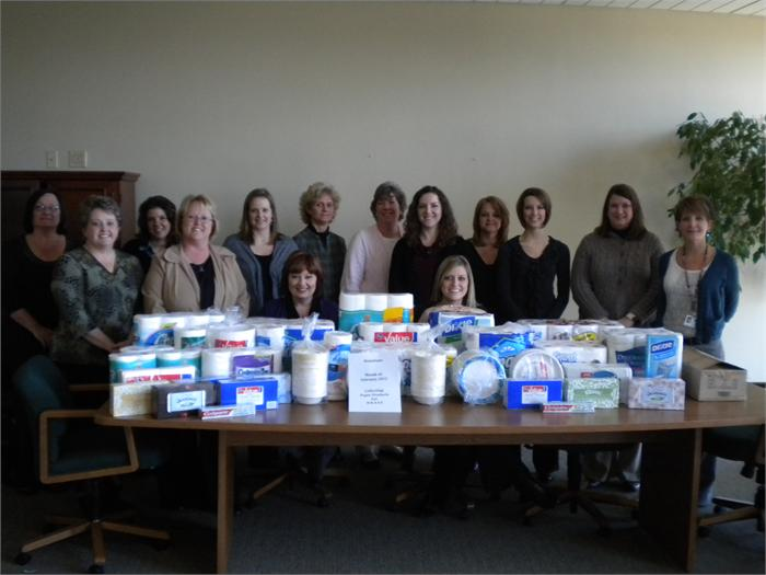 Central Office collects items for BRASS